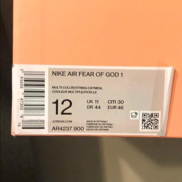 Nike Other - Nike Air Fear of God Oatmeal